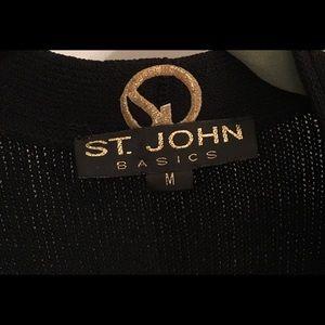St. John Basics Black Short Sleeve Knit Sweater M
